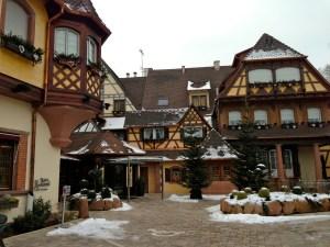Entrée de l'hotel Obernai