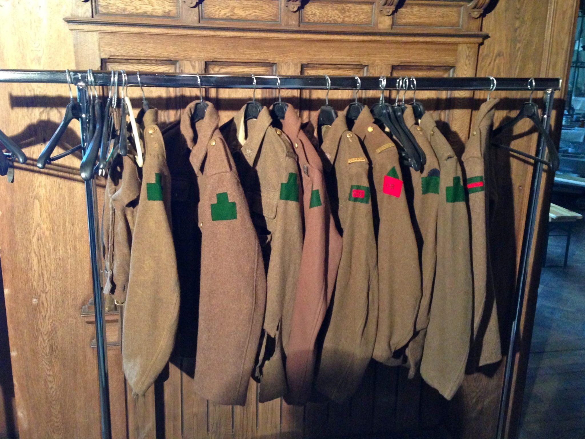 vestes de soldats