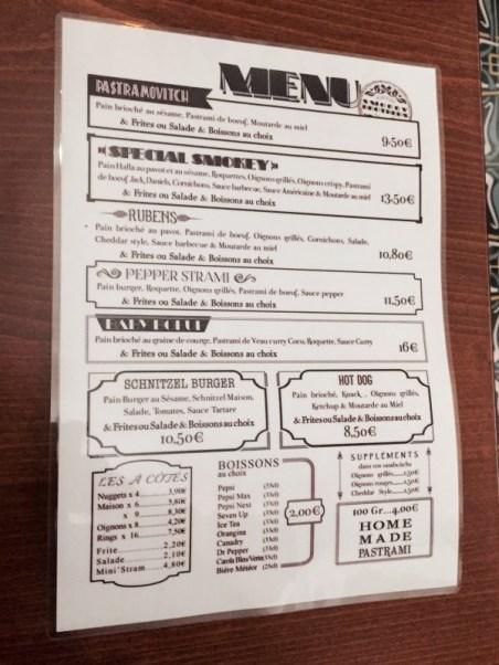 SMOKEY BROTHERS Strasbourg pastrami krutenau menu