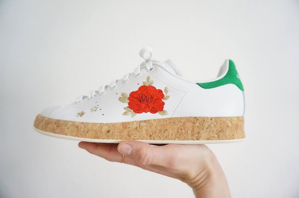 by MV Manon Vénéra broderie sneakers baskets strasbourg Adidas Reebok Nike
