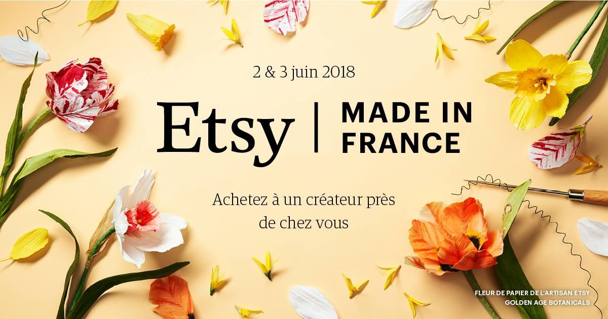 """Evénement ETSY """"Made In France"""" à Strasbourg le 2 et 3 juin 2018 !"""