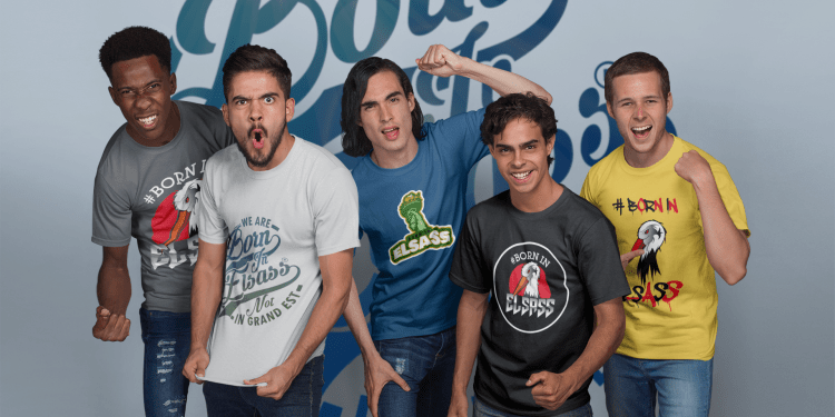 Born In Elsass t-shirt concours Alsace textile homme femme enfant