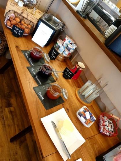 Le Kastelberg hôtel restaurant Andlau Alsace route des vins petit déjeuner