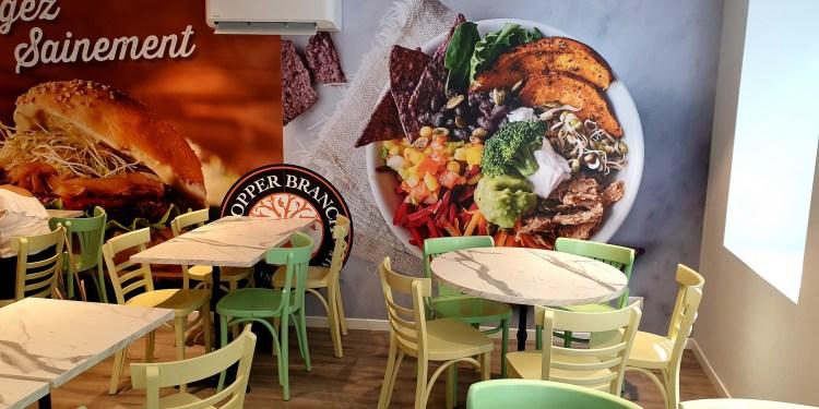 Copper Branch fast food vegan Strasbourg salle du haut