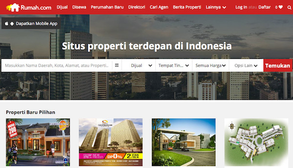 Rumah Apartemen Ruko Tanah Properti Komersial Dijual Disewa di Indonesia