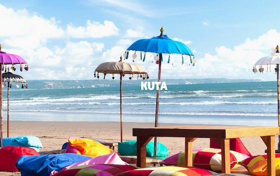 kuta beach in bali indonesia