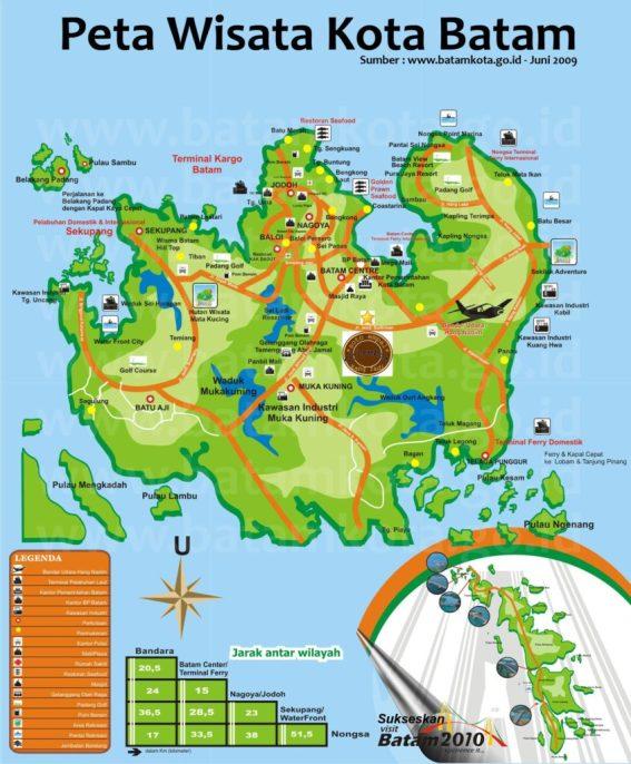 Peta Wisata di Batam