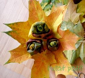, Kwiaty z liści