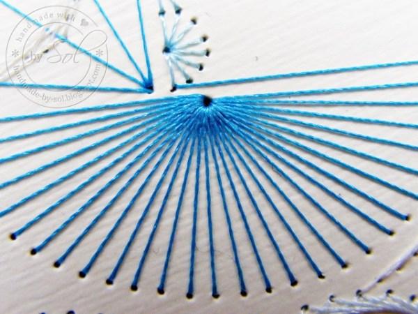 przykład ściegu spiralnego
