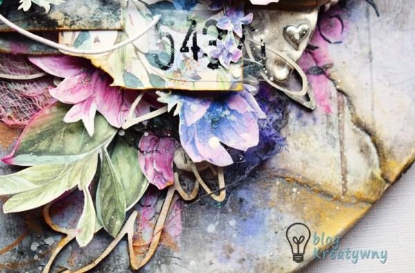 layout kwiaty zbliżenie