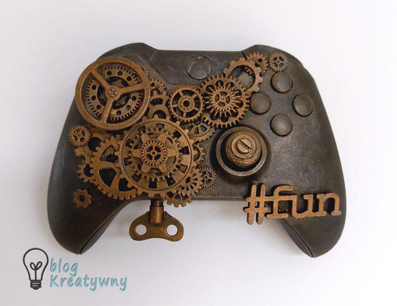 steampunkowy gamepad - gotowy