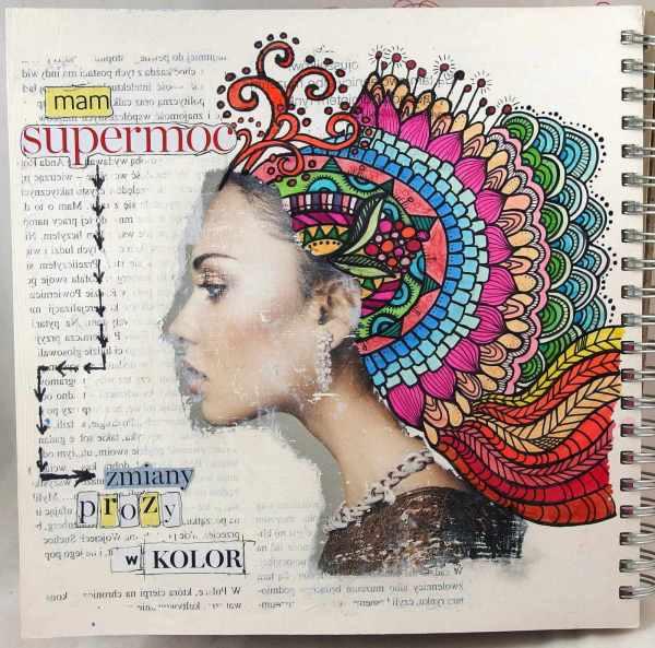 Art journal z doodlingiem