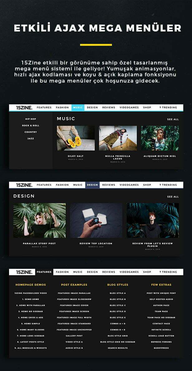 15Zine WordPress Teması İncelemesi