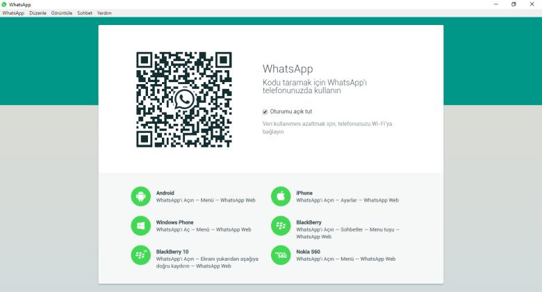 whatsapp masaüstü uygulaması