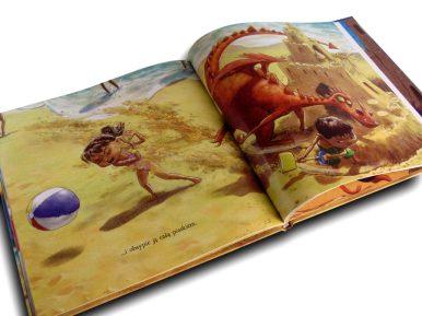 wyobraźnia książka gdy smok się wprowadza srodek