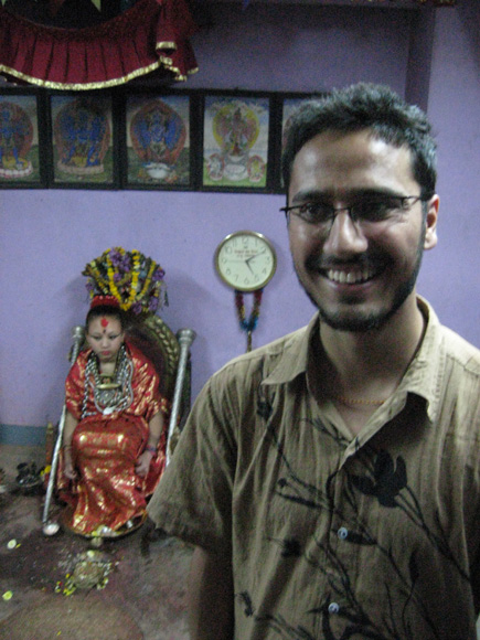 Wagle with Patan Kumari on the background