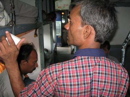 Taking order of food in an indian rail