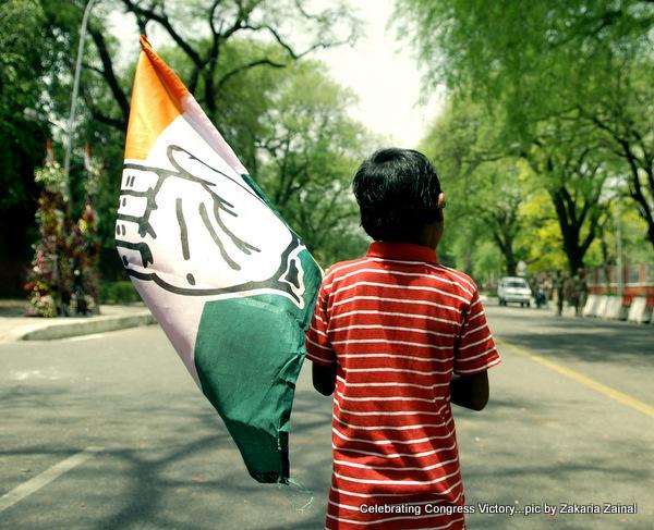 Indian naitonal congress party victory