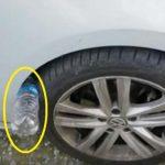 Ha az autód kerekére egy palack van rögzítve, légy figyelmes