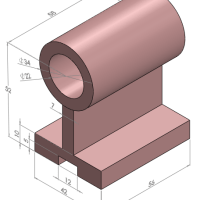 01-drum_with_mounting - axle bracket