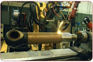 01-laser cladding process-shaft with damaged ceramic coating-clad-application-ceramic