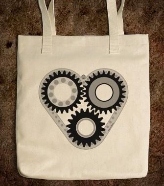 01-Denim Bag-Gear Logo
