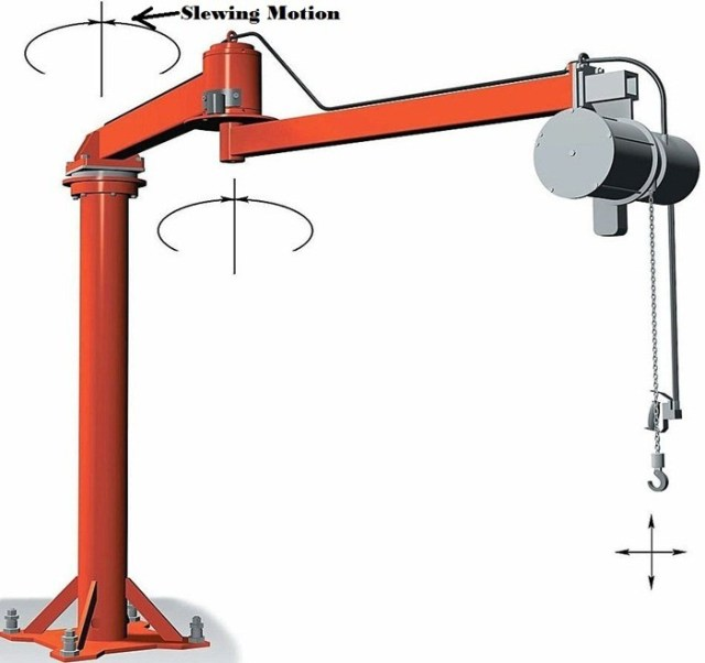 wall-mounted-jib-crane-for-handling-light-weight-materials-slewing-motion