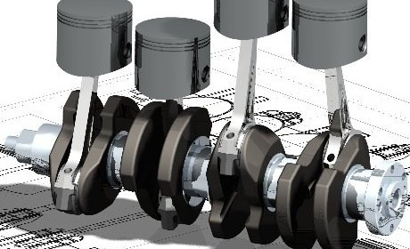 b1360 01caddesigncaddrafting4strokeenginedesignpistonandcrankassemblycomputeraideddesignsoftware1 AutoCAD AutoCAD What Are CAD Drawings   2D Design   3D Design  Modeling   Drafting   By CAD Software's like Pro-e