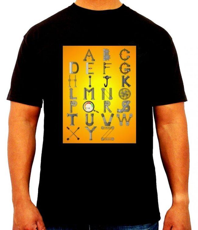 01-Mechanical engineer t shirt design - Mechanical alphabets