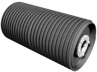 01-spiral drum conveyor pulley-pulley types-pulley with ball bearings-pulley for handling bulk load