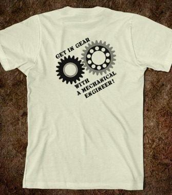 01-Mechanical Engineering Gears Design Tshirt