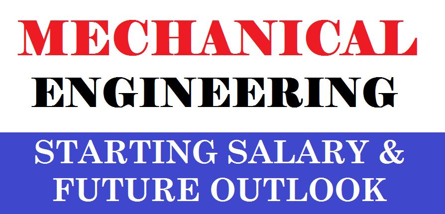 01-MECHANICAL ENGINEERING STARTING SALARY - MECHANICAL ENGINEERING WAGES - MECHANICAL ENGINEERING FUTURE OUTLOOK
