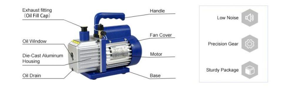 01-two stage rotary vane vacuum pump-agilent vacuum pump-oil rotary pump