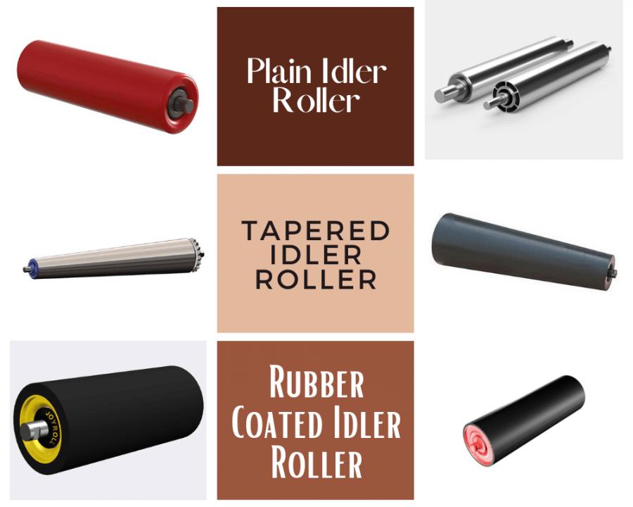 01-Plain-Idler-Roller-Tapered-Idler-Roller-Rubber-Coated-Idler-Roller-Belt-Conveyor