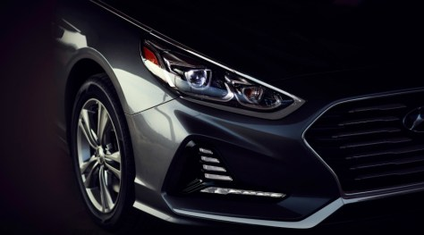 New LED lights in the 2018 Hyundai Sonata
