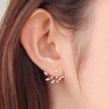 New-Fashion-Needle-Zircon-Stud-Earrings-for-Women-Zinrcon-Leaf-Gold-Plated-Ear-Jacket-Earring