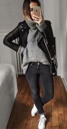 tricot e jaqueta de couro para baixinhas