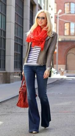 Cor laranja - Echarpe e Jeans e Listras