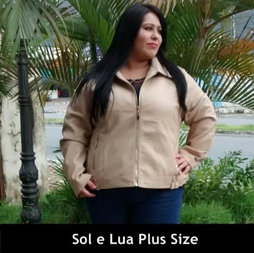 jaqueta de couro plus size 10