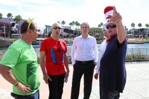 Gary Busey Wears Dr. Seuss Cat in the Hat Striped Hat, Dee Snider, Eric Trump