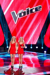 "THE VOICE -- ""Blind Auditions"" Episode 401 -- Pictured: The Morgan Twins -- (Photo by: Trae Patton/NBC)"