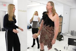 Trace Adkins playing a Caveman was very funny and Ivanka Trump couldn't stop laughing at him.