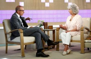"TODAY -- Pictured: (l-r) Matt Lauer and Paula Deen appear on NBC News' ""Today"" show -- (Photo by: Peter Kramer/NBC)"