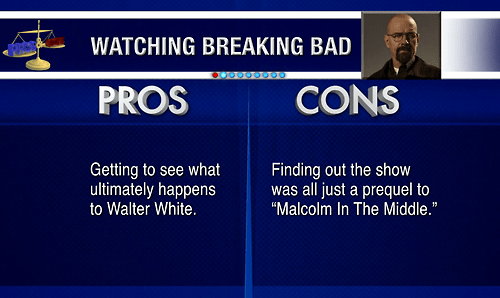 Jimmy Fallon - Late Night The Pros & Cons of Watching Breaking Bad