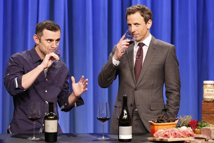 Gary Vaynerchuk Sniffy Sniffs Wine with Seth Meyers