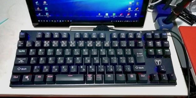 中華製の青軸(モドキ)メカニカルキーボード「Qtuo I-500」。