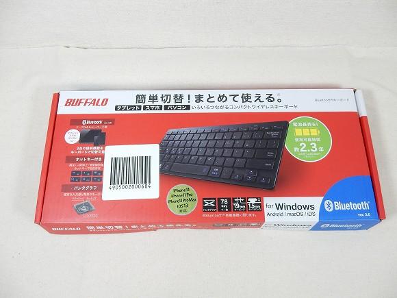 バッファローのBluetoothキーボード BSKBB310BK。