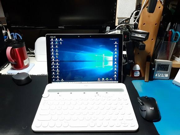 キーボードはロジクールのK480を使っています。