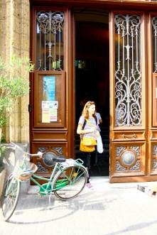 A bicyclette à l'Institut