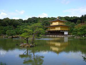 Киото. Золотой павильон храма Кинкакуджи.